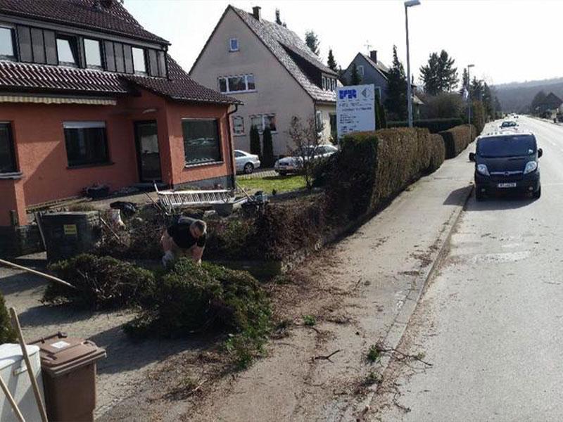 Abbrucharbeiten in Stuttgart
